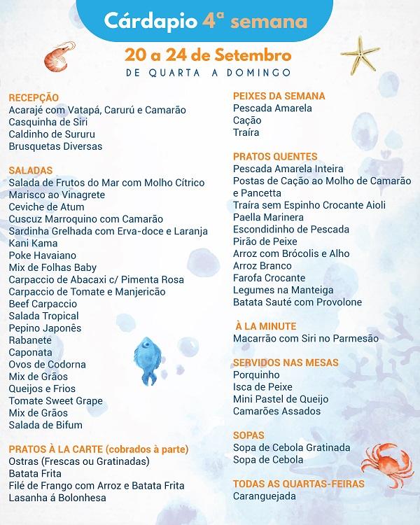Maiores Informações do Festival do Pescado e Frutos do Mar